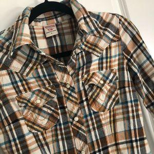 True Religion size 4 flannel shirt